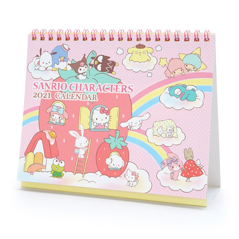Sanrio Character Ring Desktop Calendar 2021 Japan