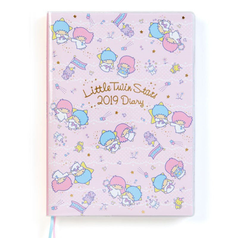 Little Twin Stars 2019 Schedule Book Diary B6 Weekly Ruled edges Sanrio Japan