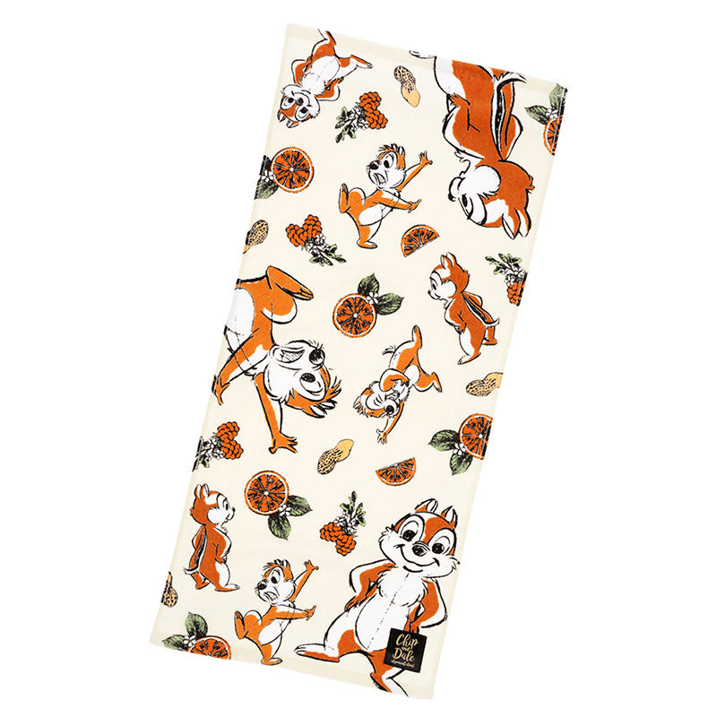 Chip & Dale Face Towel Chic Sketch Disney Store Japan