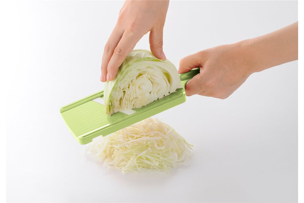 Ceramic Vegetable Slicer with Safety Device Green CSN-10GR Kyocera Japan
