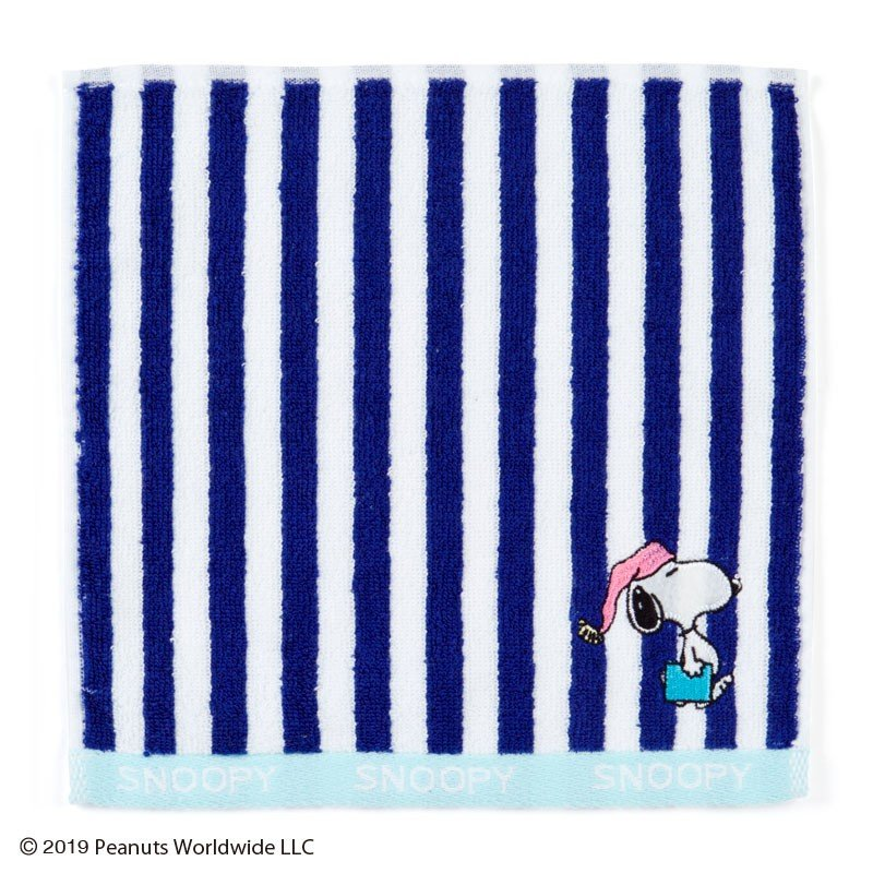 Snoopy mini Towel JOE COOL Navy PEANUTS Sanrio Japan