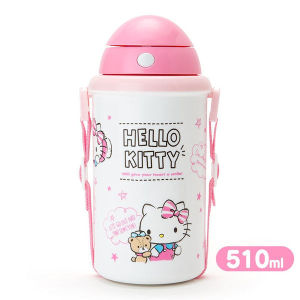 Hello Kitty Cold Straw Bottle Tumbler Talk 510ml Sanrio Japan
