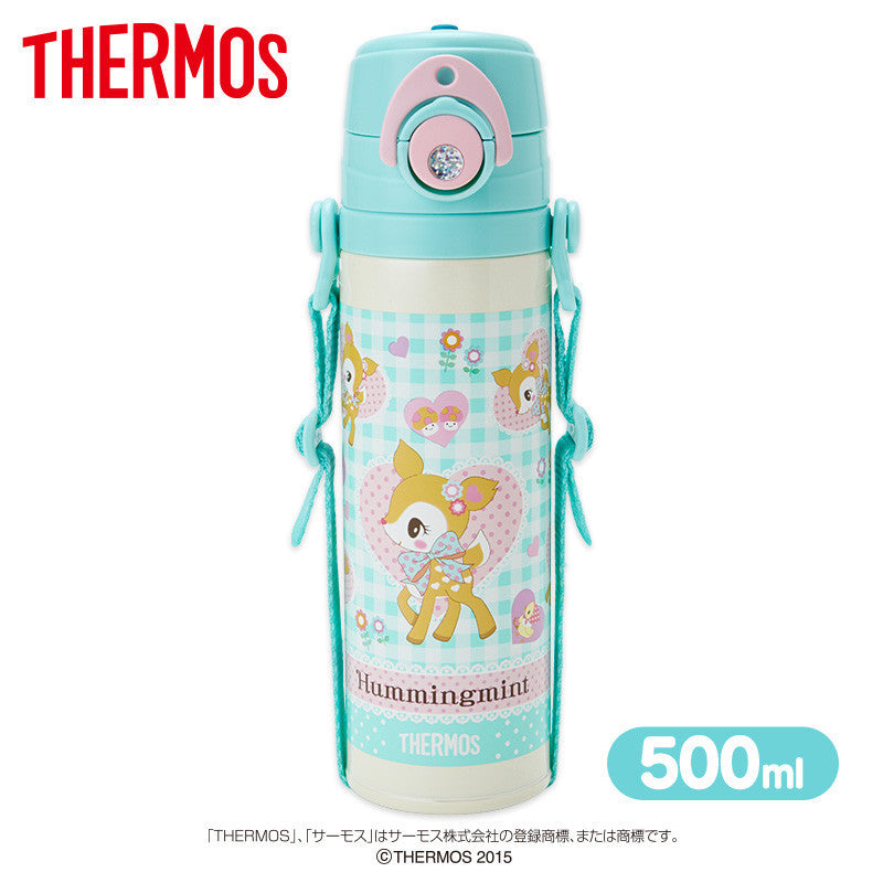 Hummingmint Thermos Stainless Bottle Sport Tumbler Flower Sanrio Japan 500ml