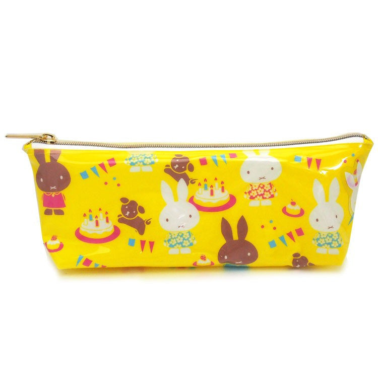 Miffy Clear Slim Pouch Miffy Party Yellow Japan