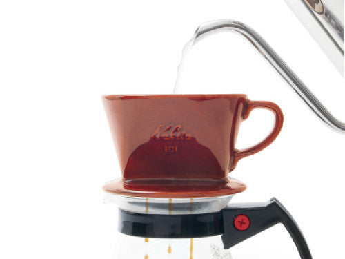 Ceramic Coffee Dripper 101-Lotto 01003 Brown Kalita Japan