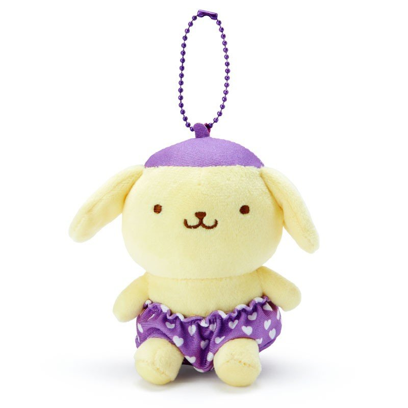 Pom Pom Purin Plush Mascot Holder Keychain Purple Recommend Color Sanrio Japan
