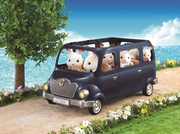 Sylvanian Families Everyone Drive Family Wagon Car V-02 Blue Japan Epoch