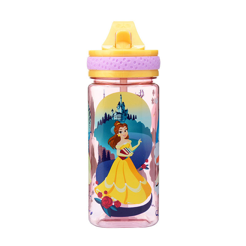 Disney Princess Water Bottle Deformed Square Disney Store Japan