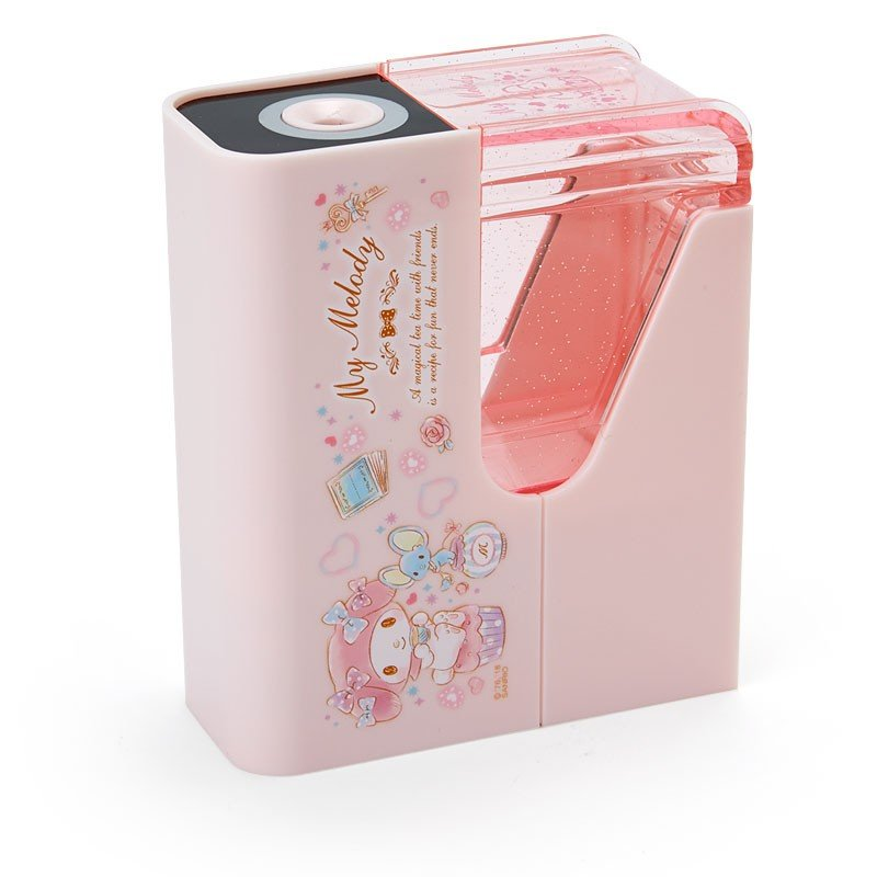 My Melody Slim Electric Pencil Sharpener Tea Time Sanrio Japan