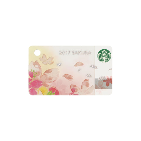 Gift Card mini Sakura Harmony 2017 Starbucks Japan