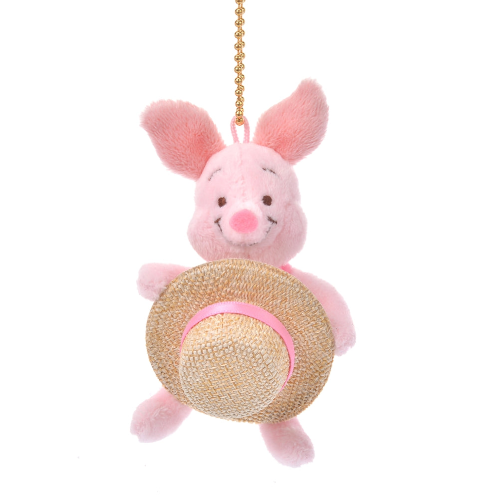 Piglet Plush Keychain Straw Hat Disney Store Japan 2020 Winnie the Pooh