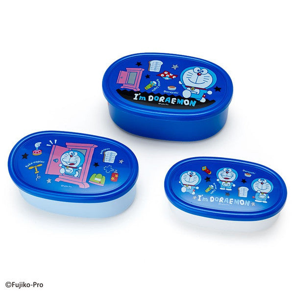 I'm DORAEMON Lunch Box Bento 3pcs Set Patchwork Sanrio Japan