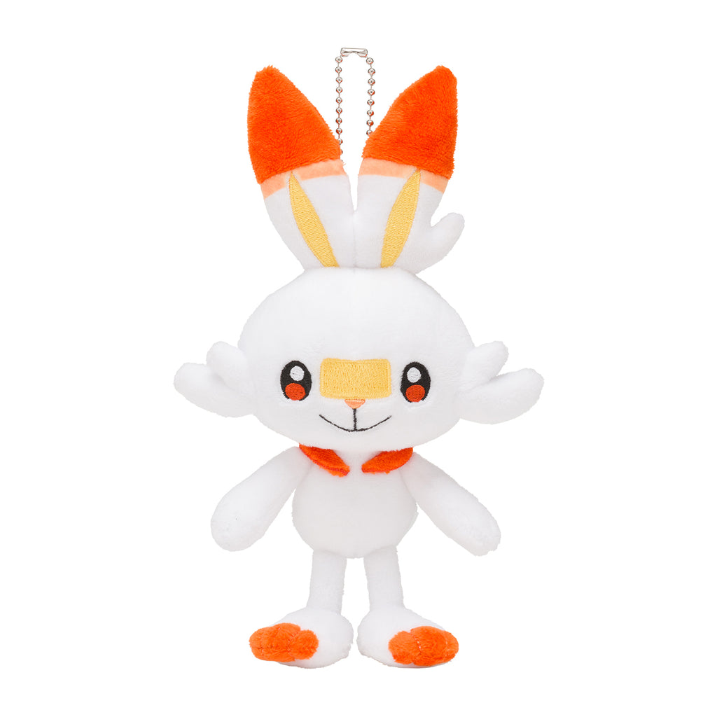 Scorbunny Hibanny Plush Keychain Sword Shield Pokemon Center Japan Original