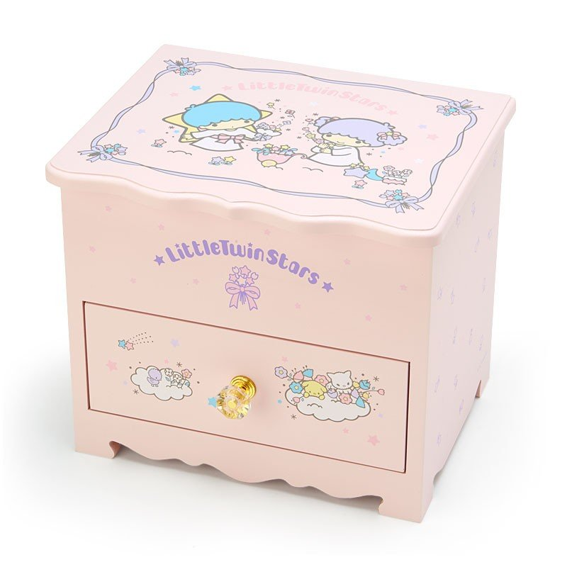 Little Twin Stars Kiki Lala Wooden Dresser with Mirror Sanrio Japan