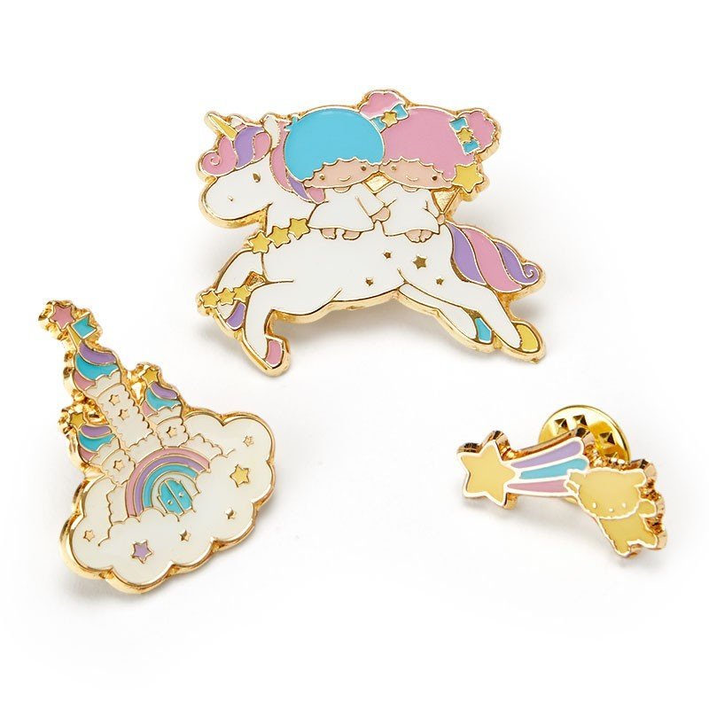 Little Twin Stars Kiki Lala Pin Badge Set Shooting Star Dream Sanrio Japan