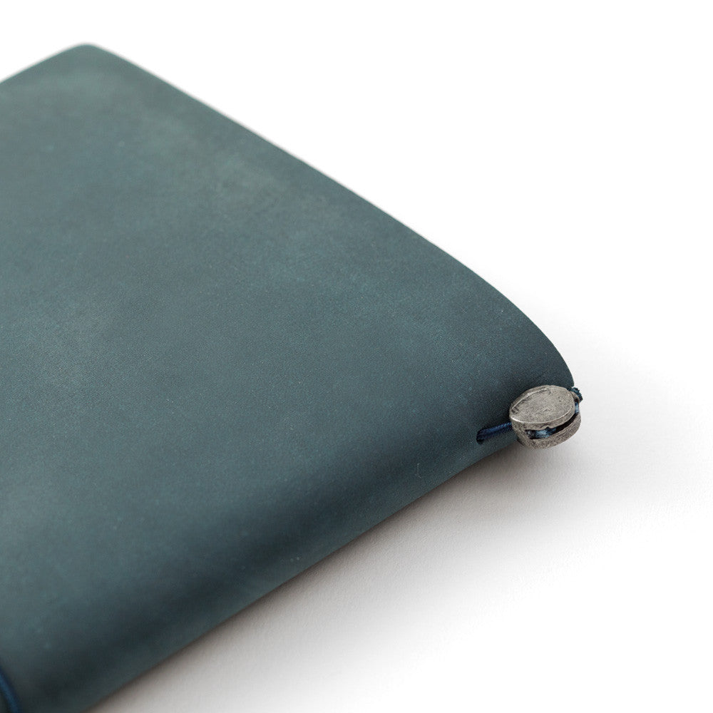 TRAVELER'S Notebook Regular size Blue Leather Cover Midori Japan 15239006
