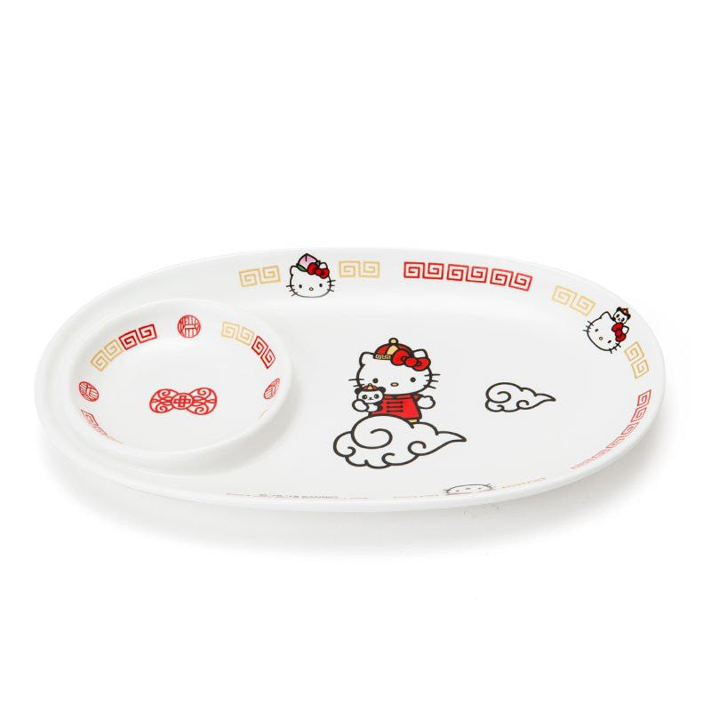 Hello Kitty Japanese Dumpling Plate Chinese Restaurant Panda Sanrio Japan