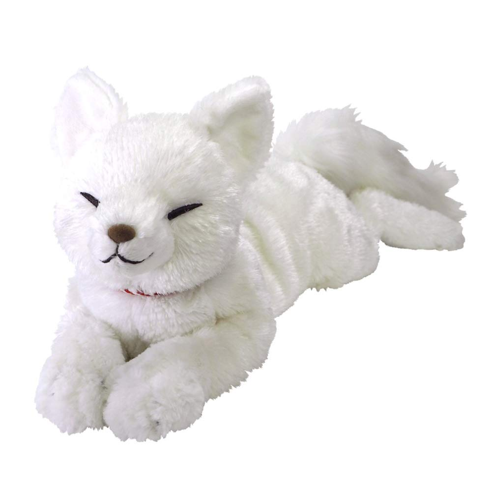 Hizakitsune Knee Fox Plush Doll M White Sunlemon Japan