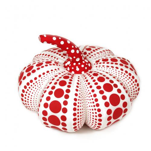 Yayoi Kusama Pumpkin Soft Sculpture Plush Doll S White Red Japan Artist
