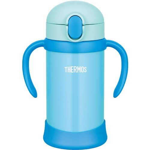 Stainless Training Straw Mug Cup 350ml FHV-350-BL Blue Thermos Japan Baby