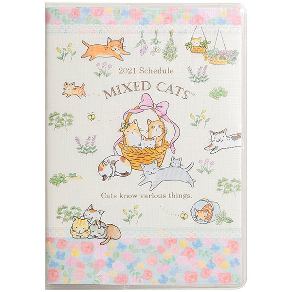 Mixed Cats Schedule Book Monthly Wide San-X Japan