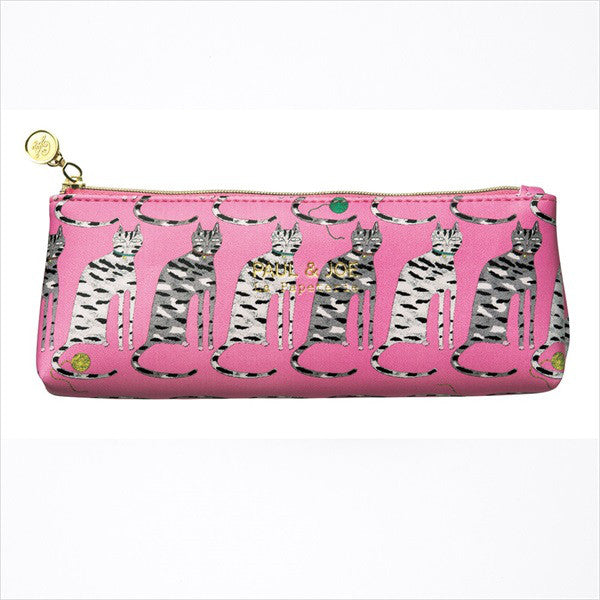 Pen Case Pencil Pouch S Drawing by Hand Cat Pink PAUL & JOE Japan