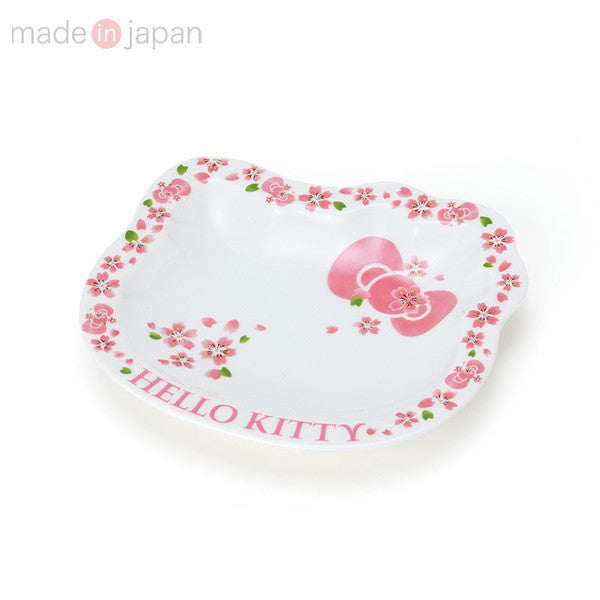 Hello Kitty Porcelain Plate Face S Sakura Sanrio Japan