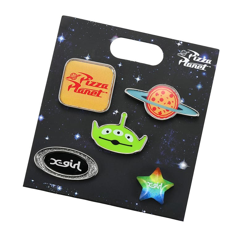 Toy Story Alien & Pizza Planet Piercing Earring Set X-girl Disney Store Japan