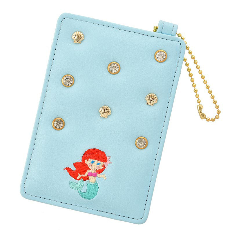 Little Mermaid Ariel ID Card Pass Case Blue Tiny Collection Disney Store Japan
