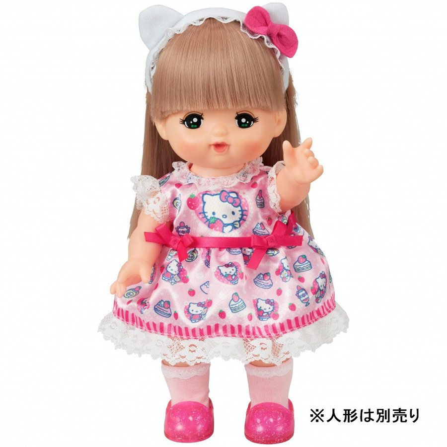 Costume for Mell chan Doll Hello Kitty Strawberry Dress Pilot Japan