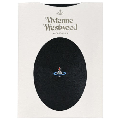 Vivienne Westwood Stocking Tights Black Embroidery ORB Japan