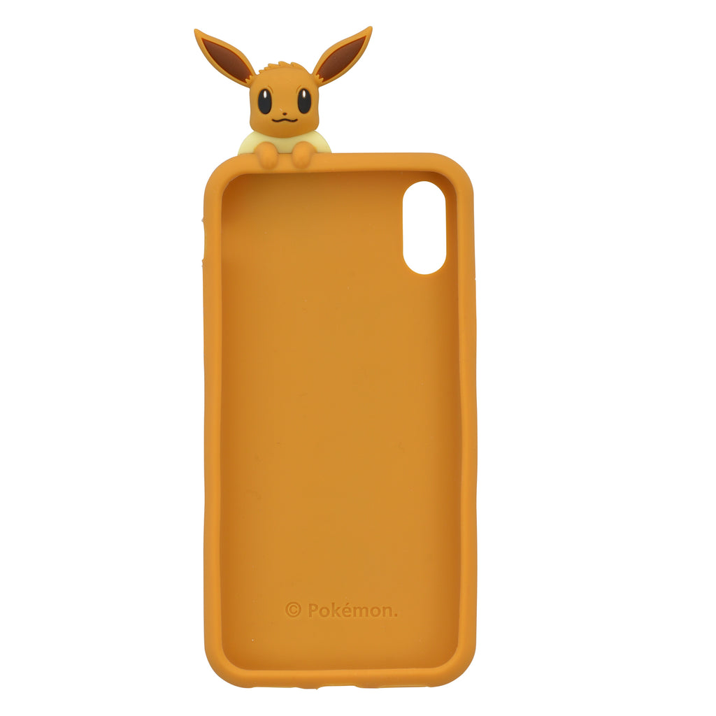 Eevee Eievui Silicone iPhone X / XS Case Cover Peeks behind Pokemon Center Japan