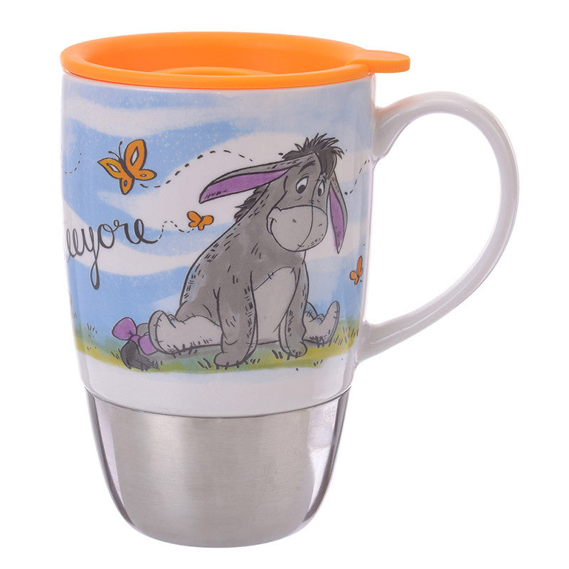 Eeyore Mug Cup with Lid Disney Store Japan Winnie the Pooh