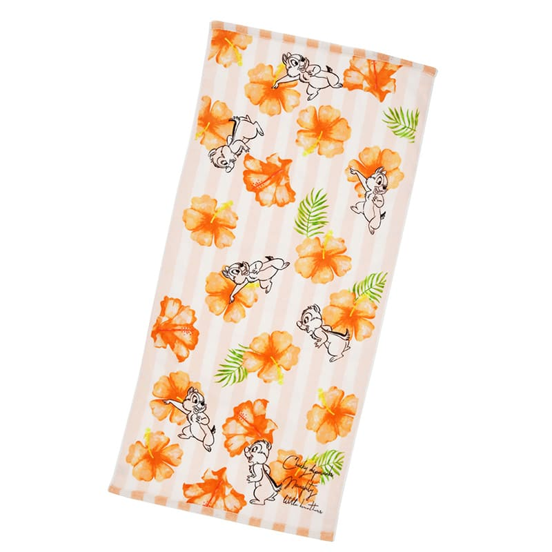 Chip & Dale Bath Towel Summer Art Disney Store Japan