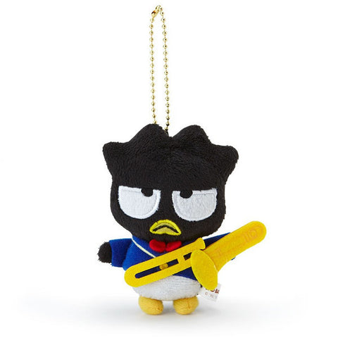 Bad Badtz-Maru Plush Mascot Holder Keychain Music Corps Sanrio Japan