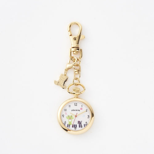 Pickles the Frog Watch Charm Keychain White Japan
