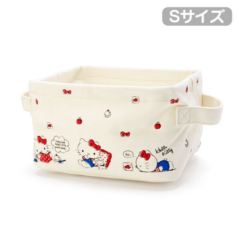 Hello Kitty Canvas Storage Box S Sanrio Japan