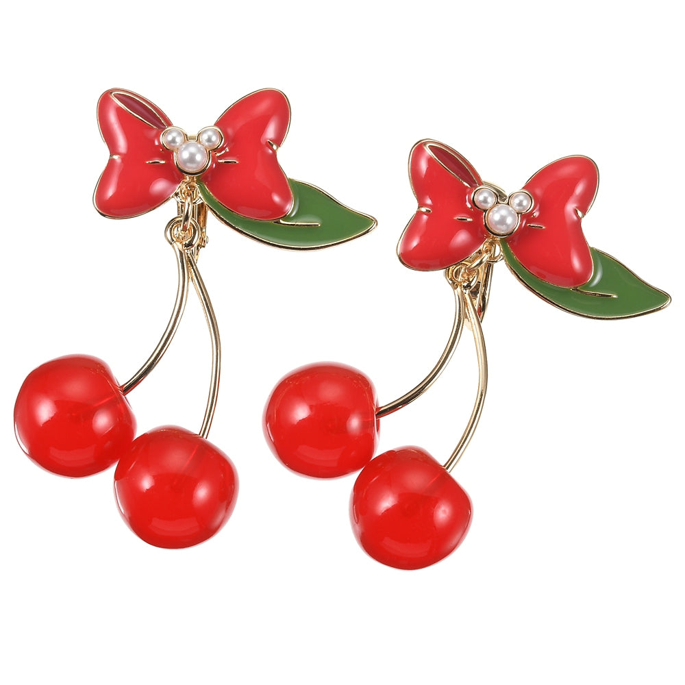 Minnie Non Pierced Earring CHERRY Disney Store Japan