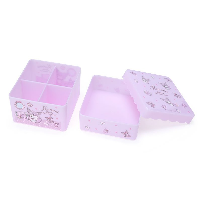 Kuromi Storage Box with Tray Sanrio Japan