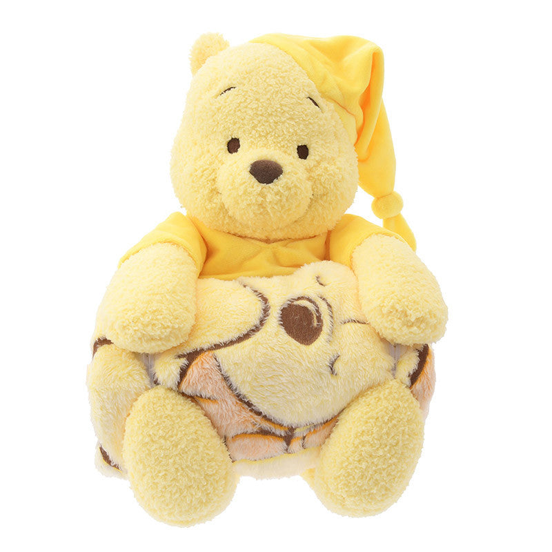 Winnie the Pooh Blanket with Plush Doll Relax Time Disney Store Japan