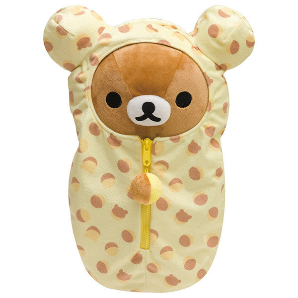 Rilakkuma Plush Doll M Sleeping Bag Bell Castella San-X Japan
