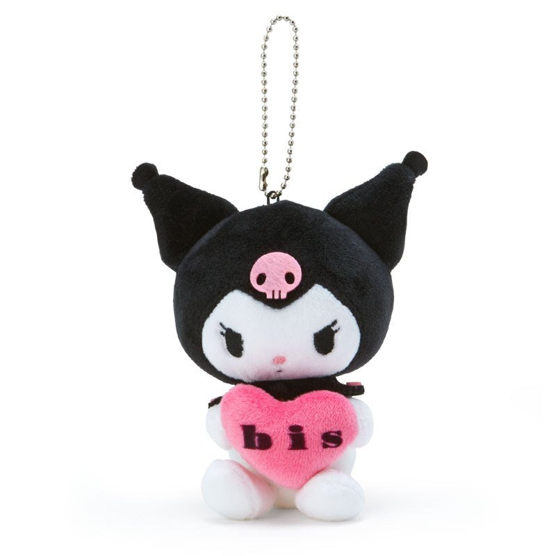 Kuromi Plush Mascot Holder Keychain Munyu bis Sanrio Japan