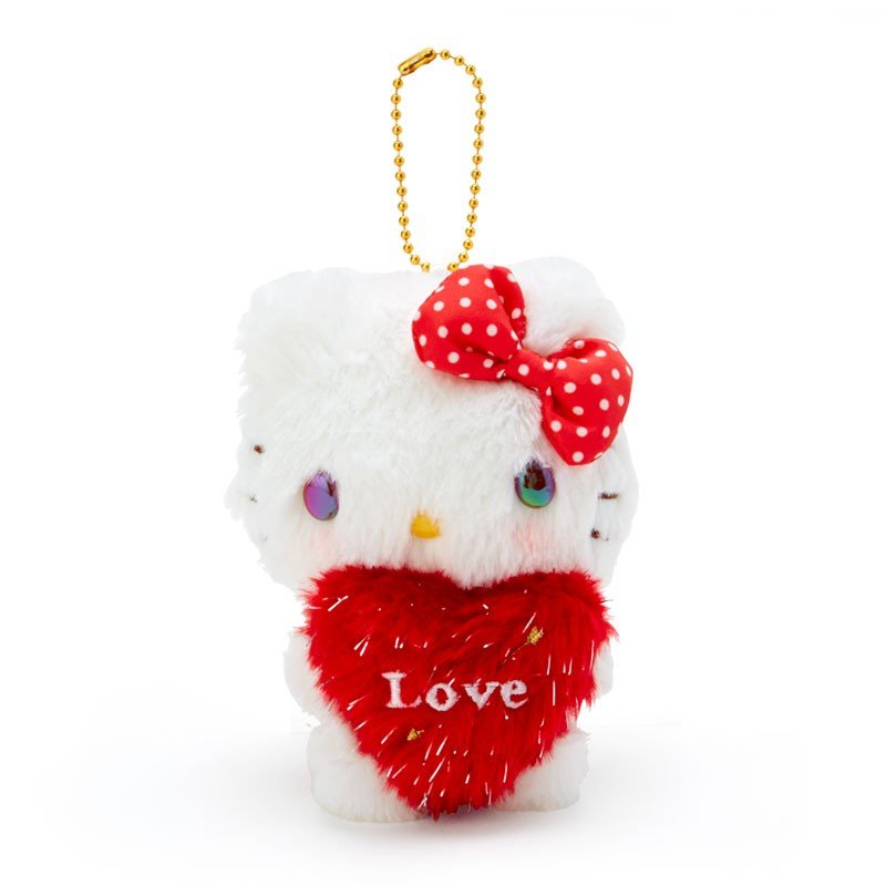 Hello Kitty Plush Mascot Keychain Heart Cupid Sanrio Japan Valentine's Day