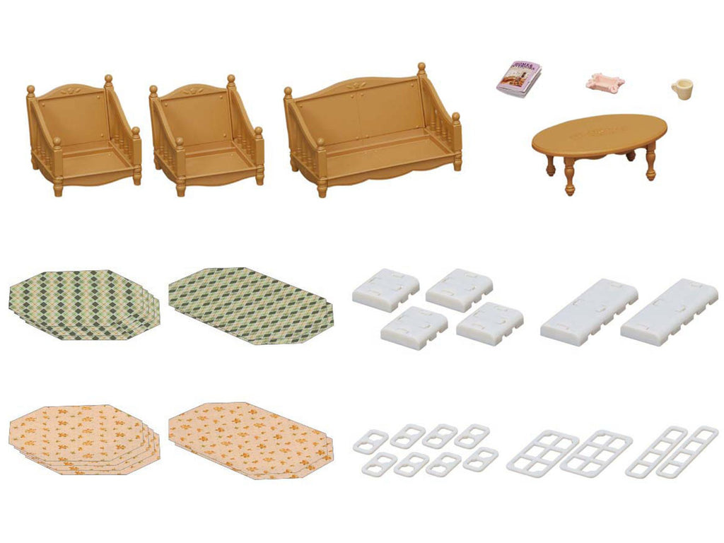 Furniture Sofa Armchair Set Ka-521 Sylvanian Families Japan Calico Critters