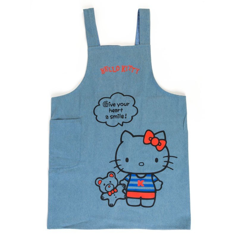 070556c18177 Hello Kitty Denim Apron Sanrio Japan