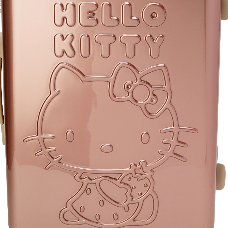 Hello Kitty Carry Case Suitcase M Strawberry Rose Gold Sanrio Japan TSA lock