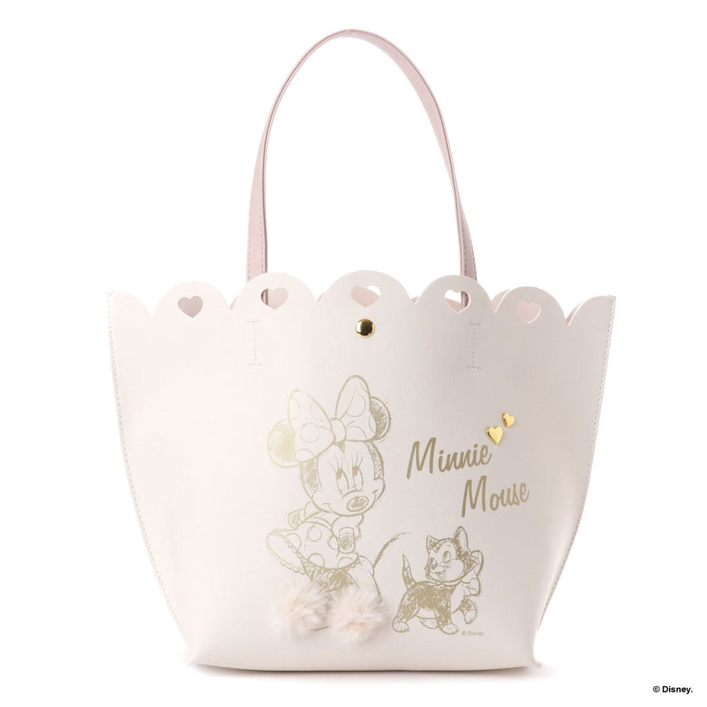 Minnie Tote Bag White Heart Floral Corolle D23 Disney COLORS Jennifer sky Japan