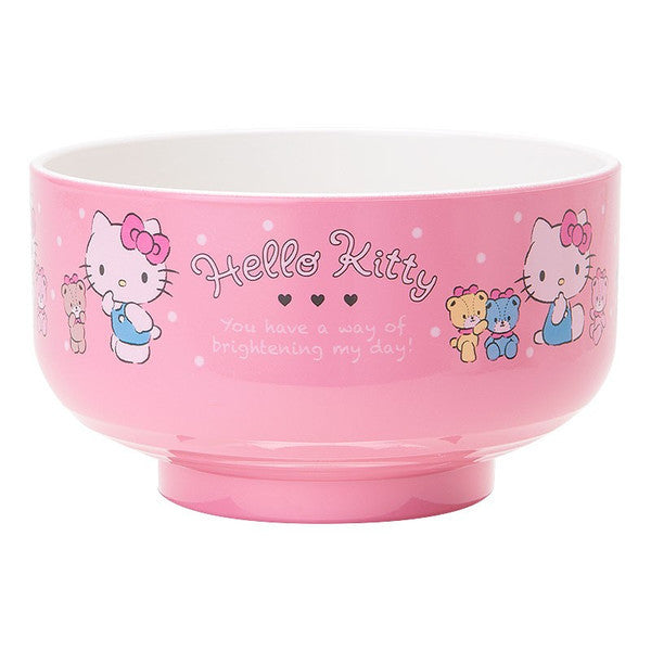Hello Kitty PET Rice Bowl Dot Sanrio Japan