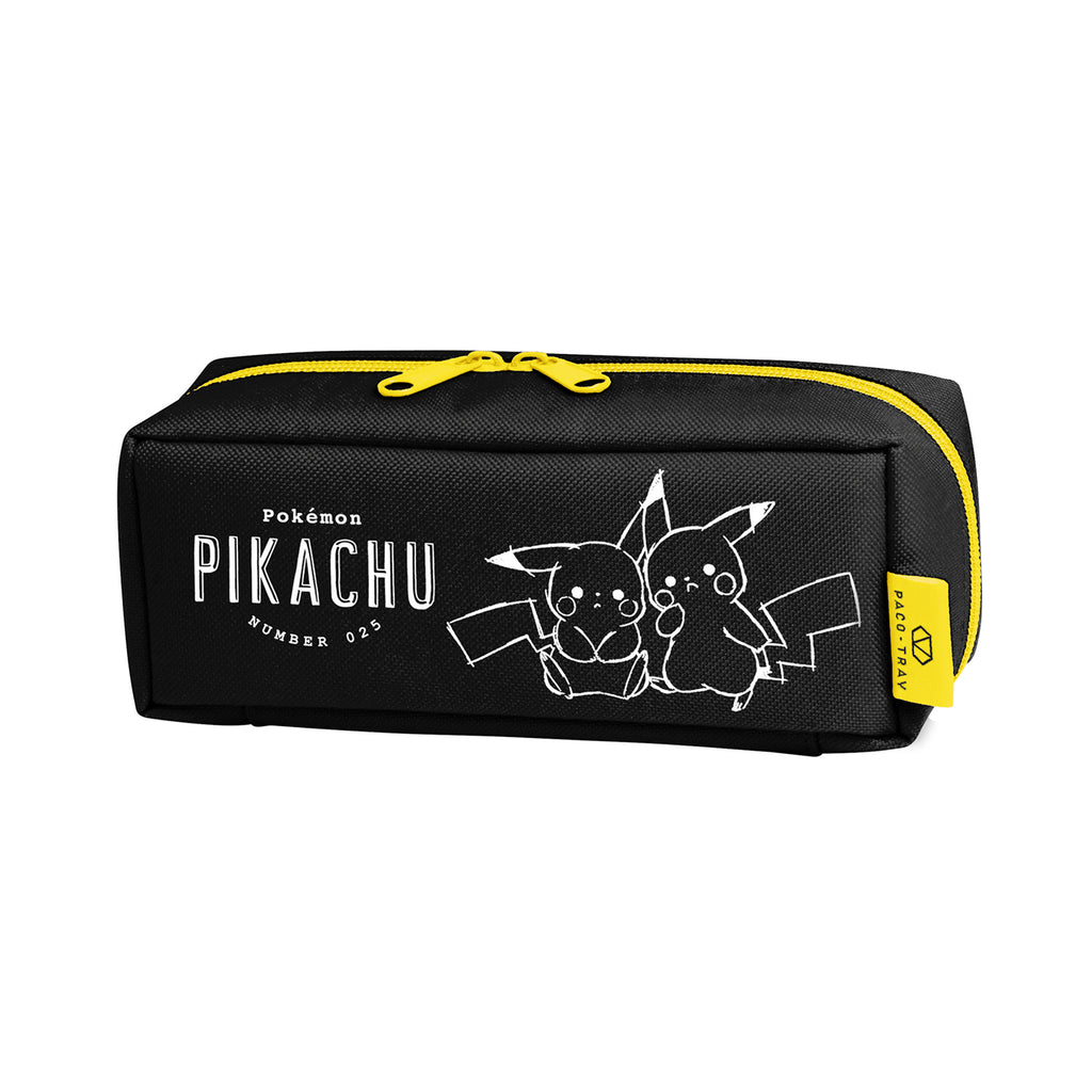 PACO-TRAY Pen Case Pencil Pouch Black Pikachu number025 Pokemon Center Japan