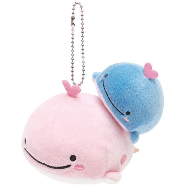 Kokujira Mother Whale Plush Keychain Heart Buruburu Kokujira's Dream San-X Japan